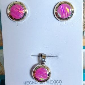 🆕🏖️ Mexico Sterling Silver Opal Set